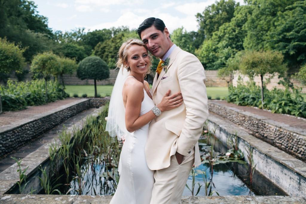 Cream wedding suit. Steven Hitchcock Bespoke