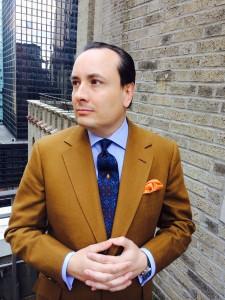 Steven Hitchcock linen suit.
