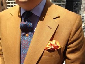 Steven Hitchcock brown linen suit