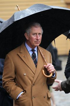 Prince of Wales wearing Steven Hitchcock D.B. overcoat.