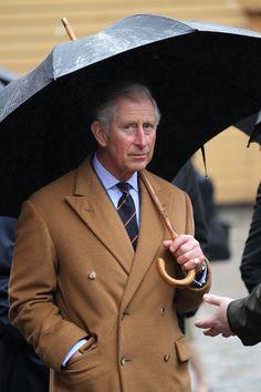 Prince of Wales wearing Steven Hitchcock D.B. overcoat.