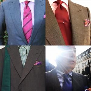 Grey bespoke suit.