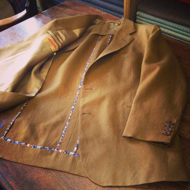 Tabaco linen half lined coat part of a two piecehellip