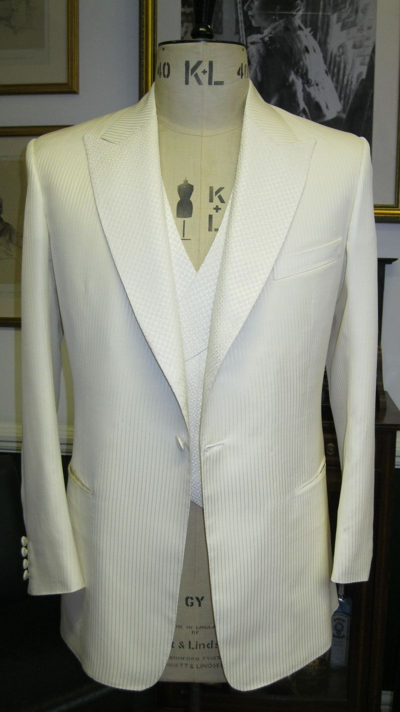 White 7 oz Scabal formal wear