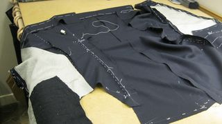Sewing fore parts to back